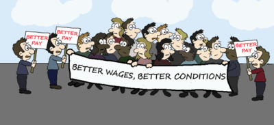 Employment Law Strike Cartoon