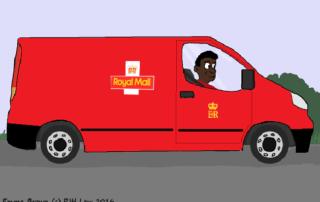 postal worker graphic