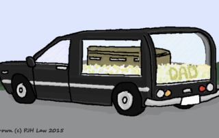 funeral car by Emma Brown